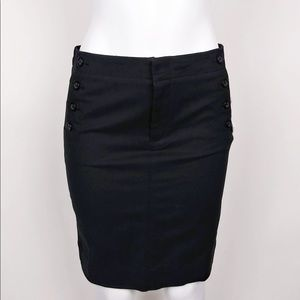 NWT GAP Black Pencil Skirt Above the Knee Size 4